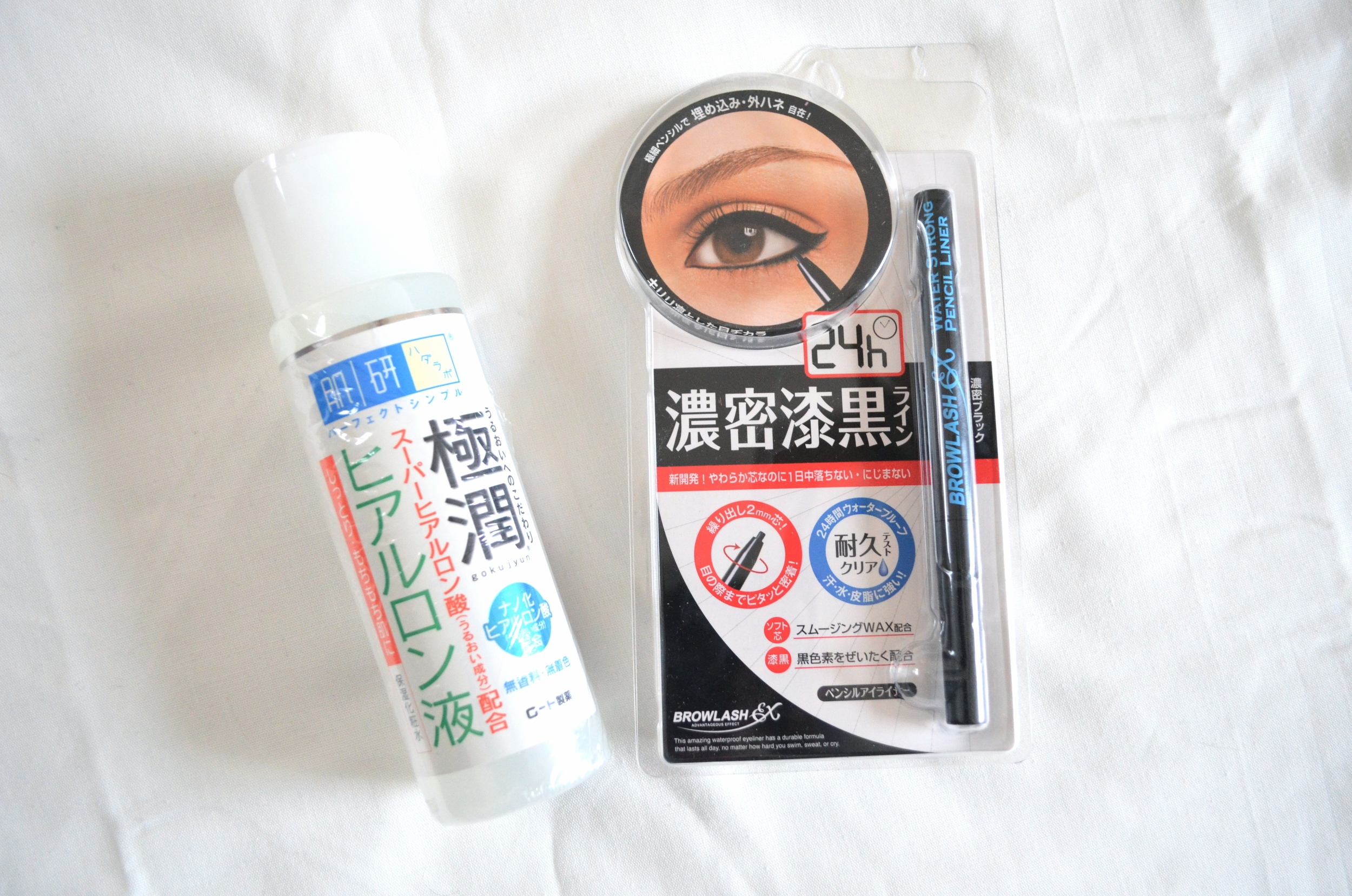 hada labo hyaluronic lotion review, browlash ex 24hr water strong pencil liner review