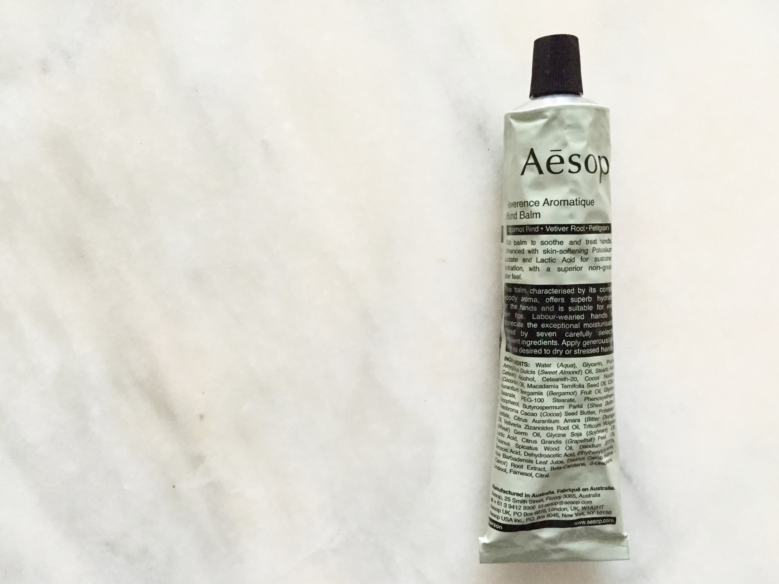aesop reverence aromatique hand balm review