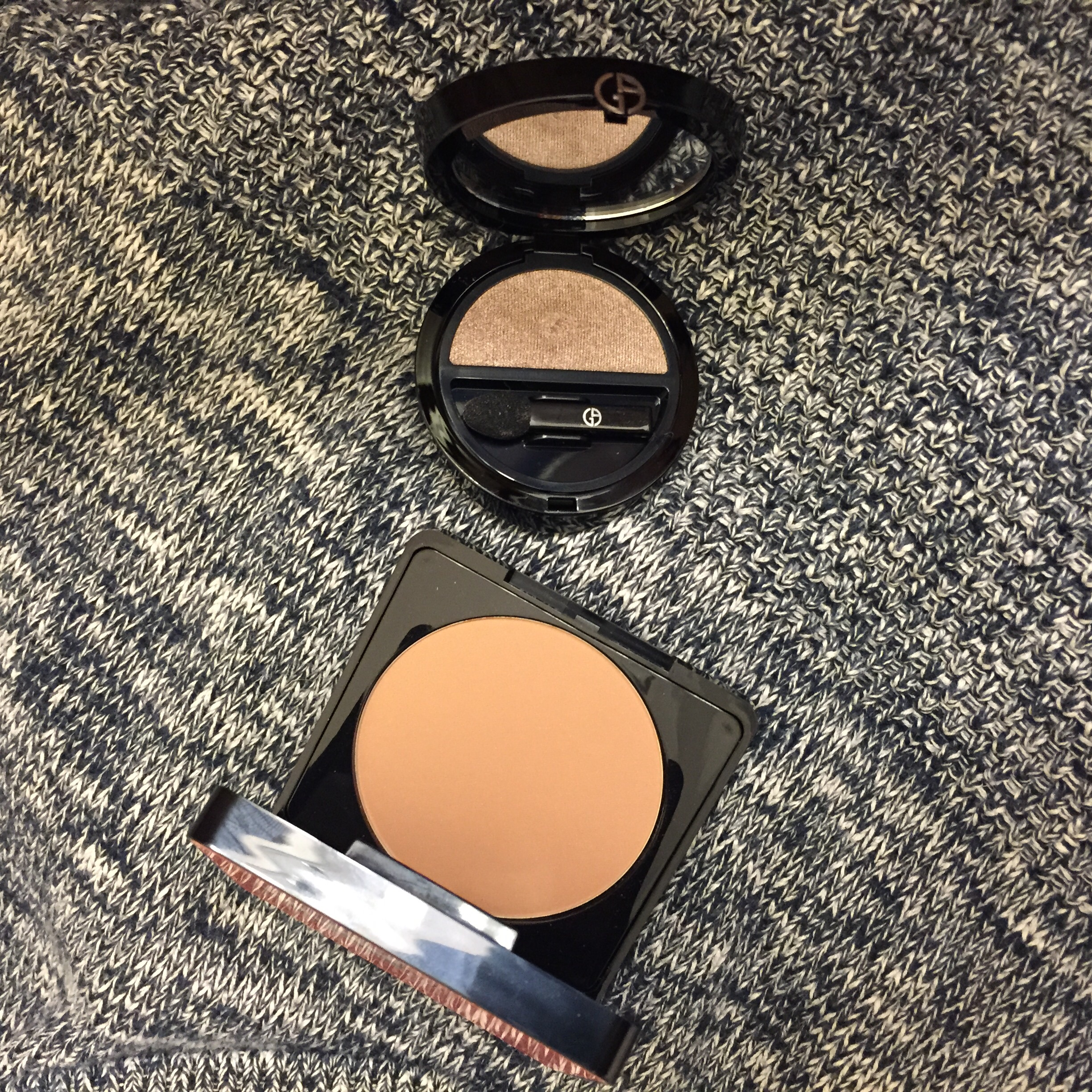 Day 2: Rouge Bunny Rouge Bronzer and Armani Single Eyeshadow in #9 Tadzio