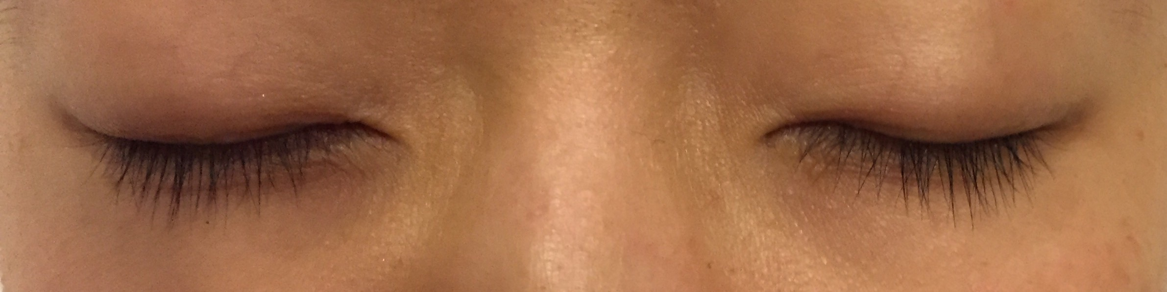 1/19/15 After about 1.5 months of inconsistent use of Lashfood