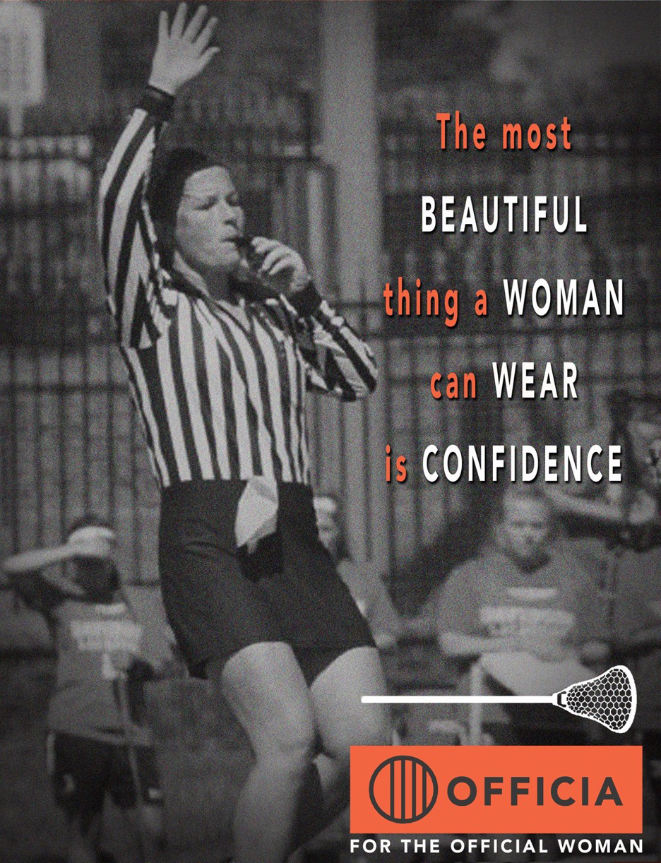 For Women, by Women - Officia is owned by women who have a history in designing and improving products for the female athlete.  From patenting products for female athletes to wear while playing softball to designing the most comfortable and durable officials gear for women, Officia never stops innovating and creating the best product for you, our valued customer.  Officia has proudly been serving the female officials market for years.  Officia provides female officials with the most comfortable and fine-fitting jersey and kilt on the market, and all Officia branded items are all proudly made in USA. We look forward to continually expanding our product offering - please check back soon to learn more about our growing product offering, or click HERE to be added to our mailing list - don't worry, we don't like spam either!  We look forward to more exciting additions to our product line in the future, too.  Our goal is to be the official apparel provider for female officials.