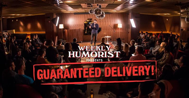 Weekly Humorist Wednesday, Jan 9th 8:oopm-9:3opm Mailroom Bar | 110 Wall St. | New York, NY 10005   Tickets