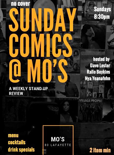 Sunday Comics @ Mo's Sunday, June 26th 8:3opm-1o:3opm Mo's | 80 Lafayette | Brooklyn, NY 11217   Tickets