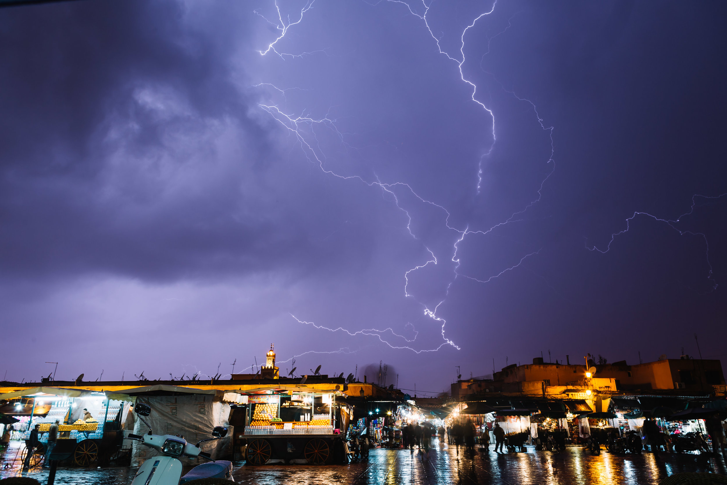 Storm in Marrakech, Morocco. 2014