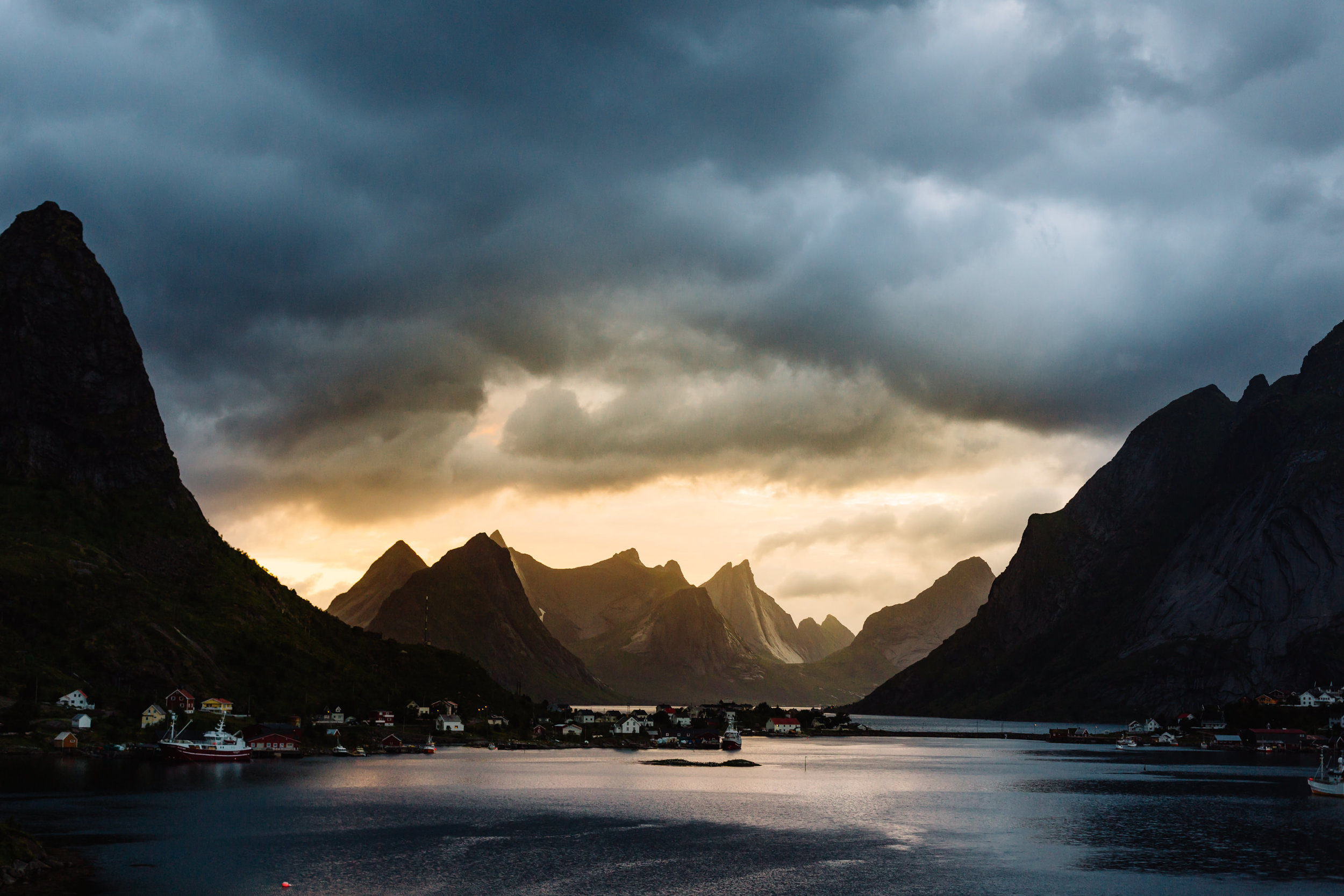 Reine midnight sun, Lofoten Islands, Norway. 2013