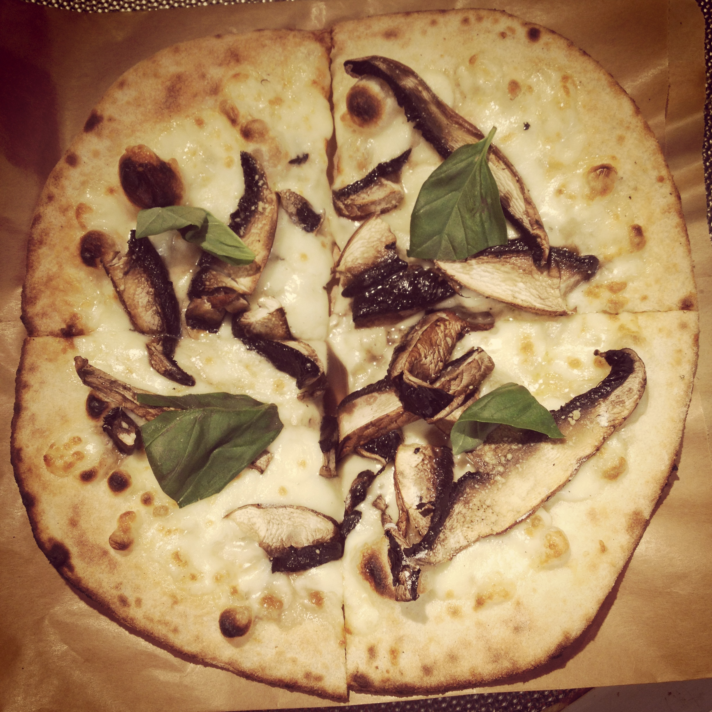 funghi, portobello mushrooms with truffle oil - a hit on the night!