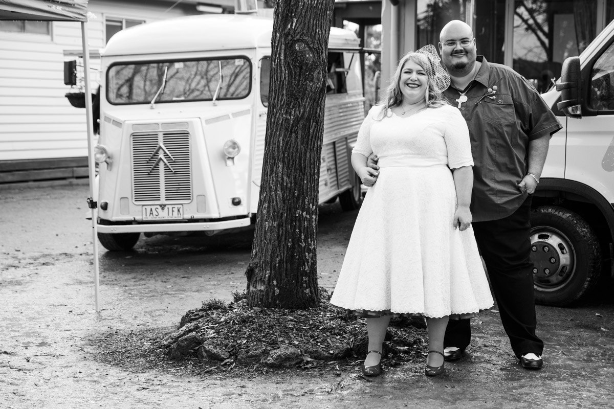 """"""" My husband and I had Pizza Wagon as part of our catering for our wedding in July 2014. We can't thank them enough for their yummy pizzas and great service. Our guests loved their food and they raved about the atmosphere that the beautiful food truck bought to the wedding. Can't wait to get our next pizza from the wagon. """"  Emma Siguenza"""