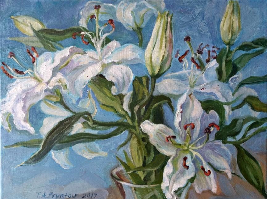 The White Lilies closeup