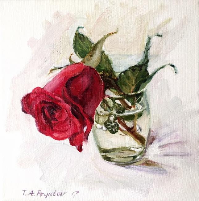 The Red Rose closeup