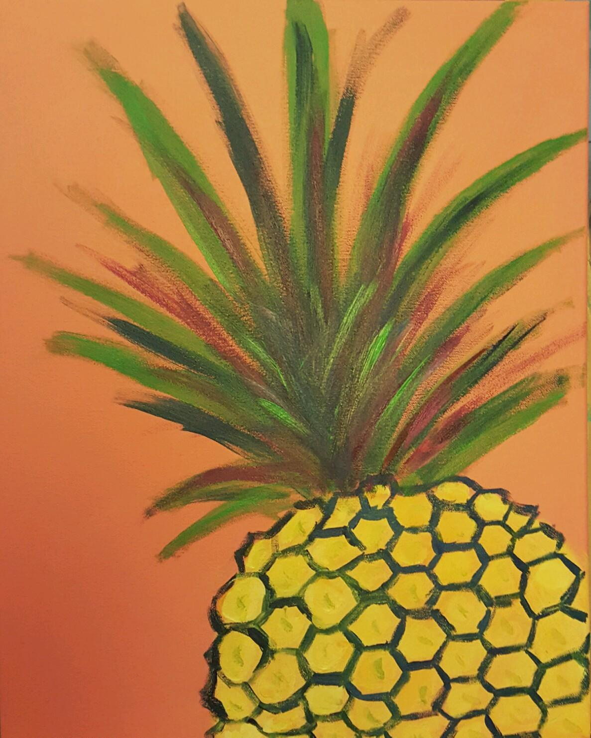 Paint this yummy pineapple at the pot luck painting class!
