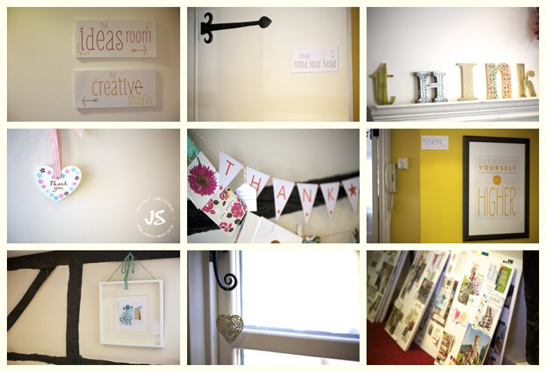 collage of images from inside Flourish Design Studios