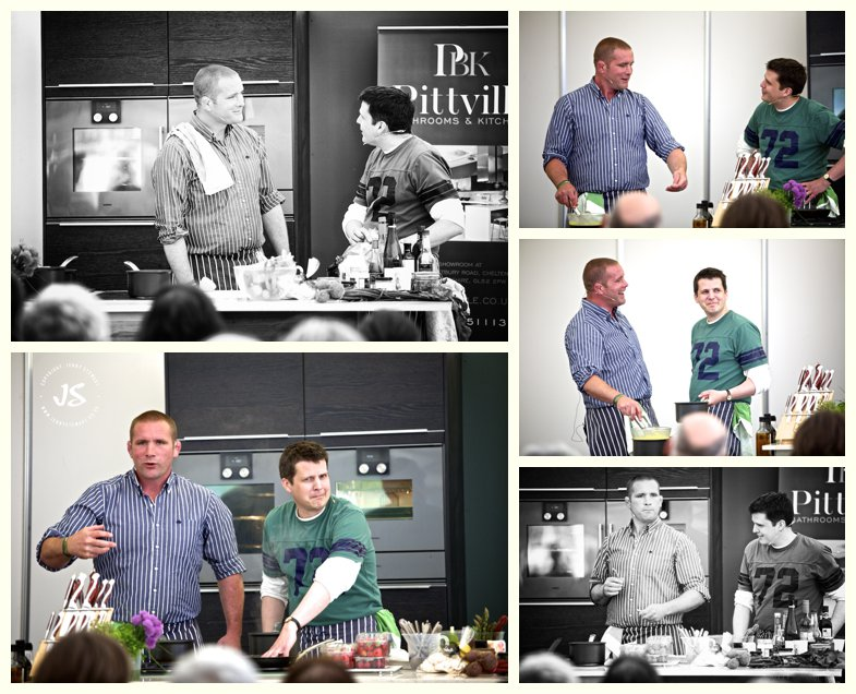 Rob Rees and Phil Vickery cookery demonstration