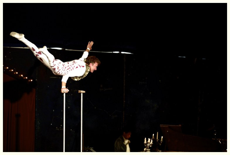 acrobat at Giffords Circus