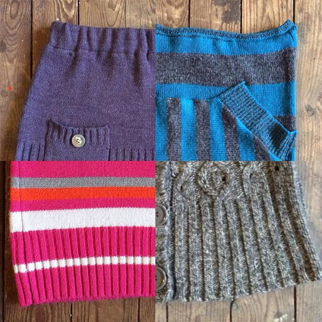Warm buns! You can get these (and more) casual handmade up-cycled sweaters to skirts at @barreco_bayview ! Woohoo!!!!