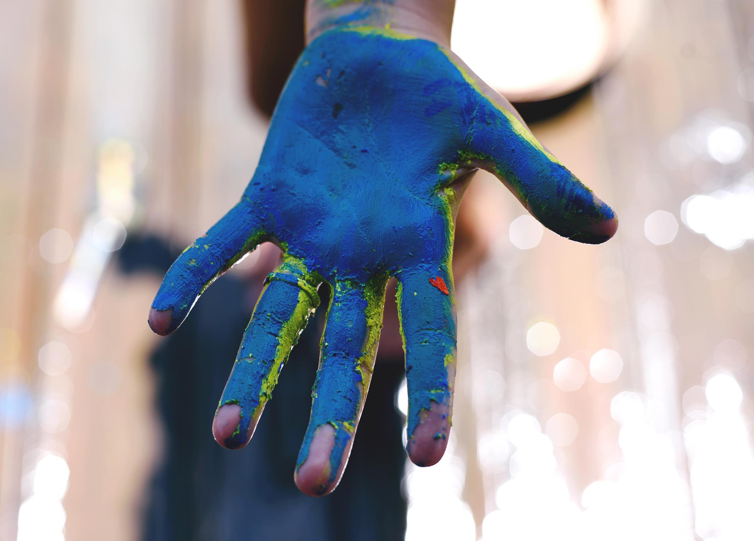 Hand of an artist.