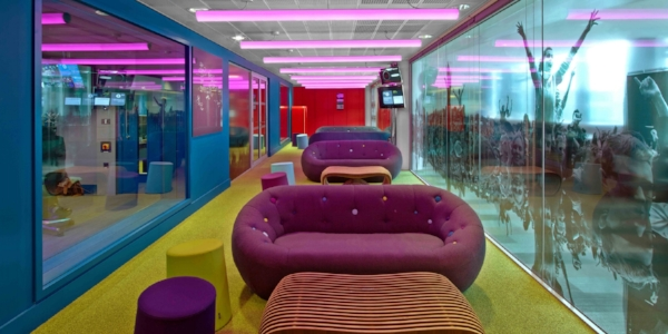 Capsule Sofa - BBC Radio 1, London - HOK