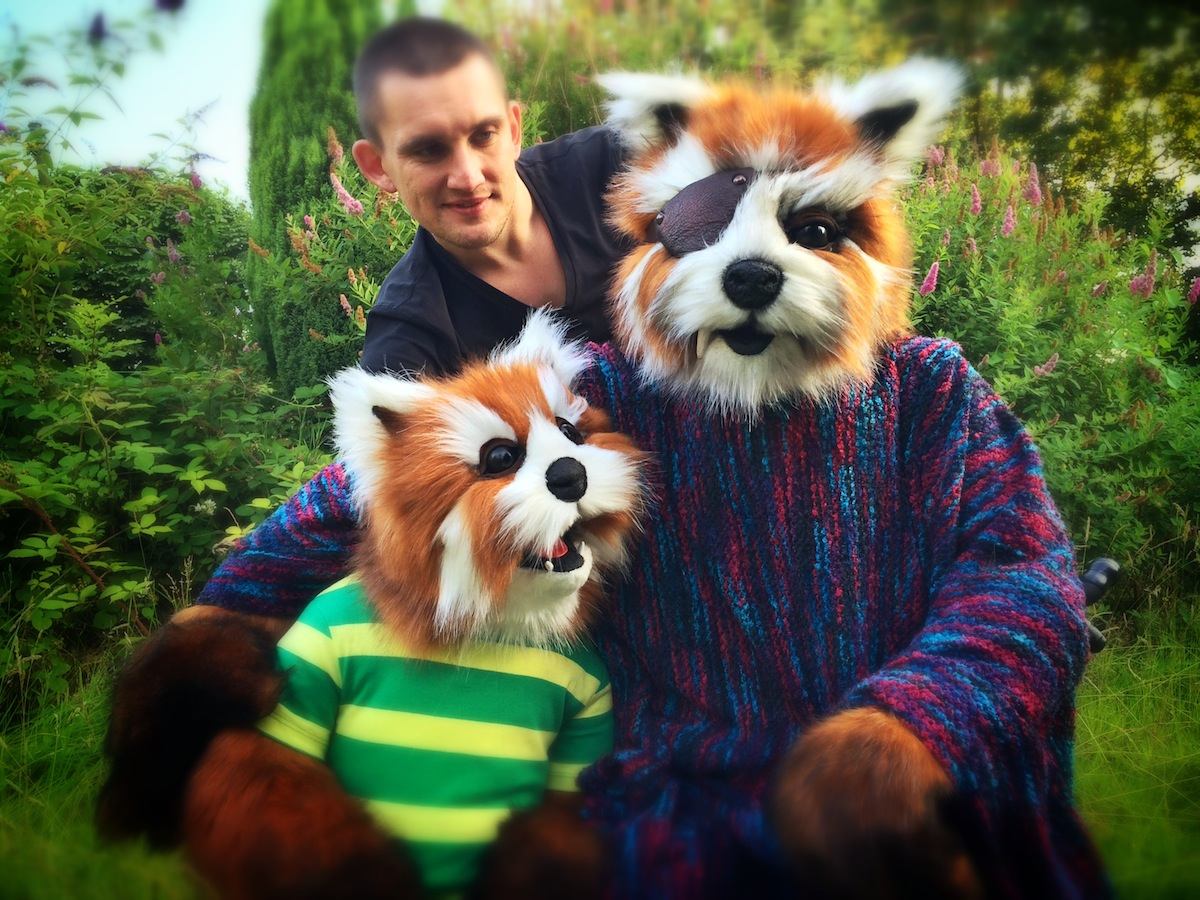 Animatronic Squirrel Bear puppets fabricated for Robin Hill