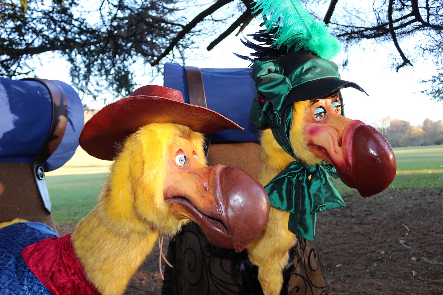 Animatronic puppet Dodo costume characters built for Blacking Chine- Land of Imagination