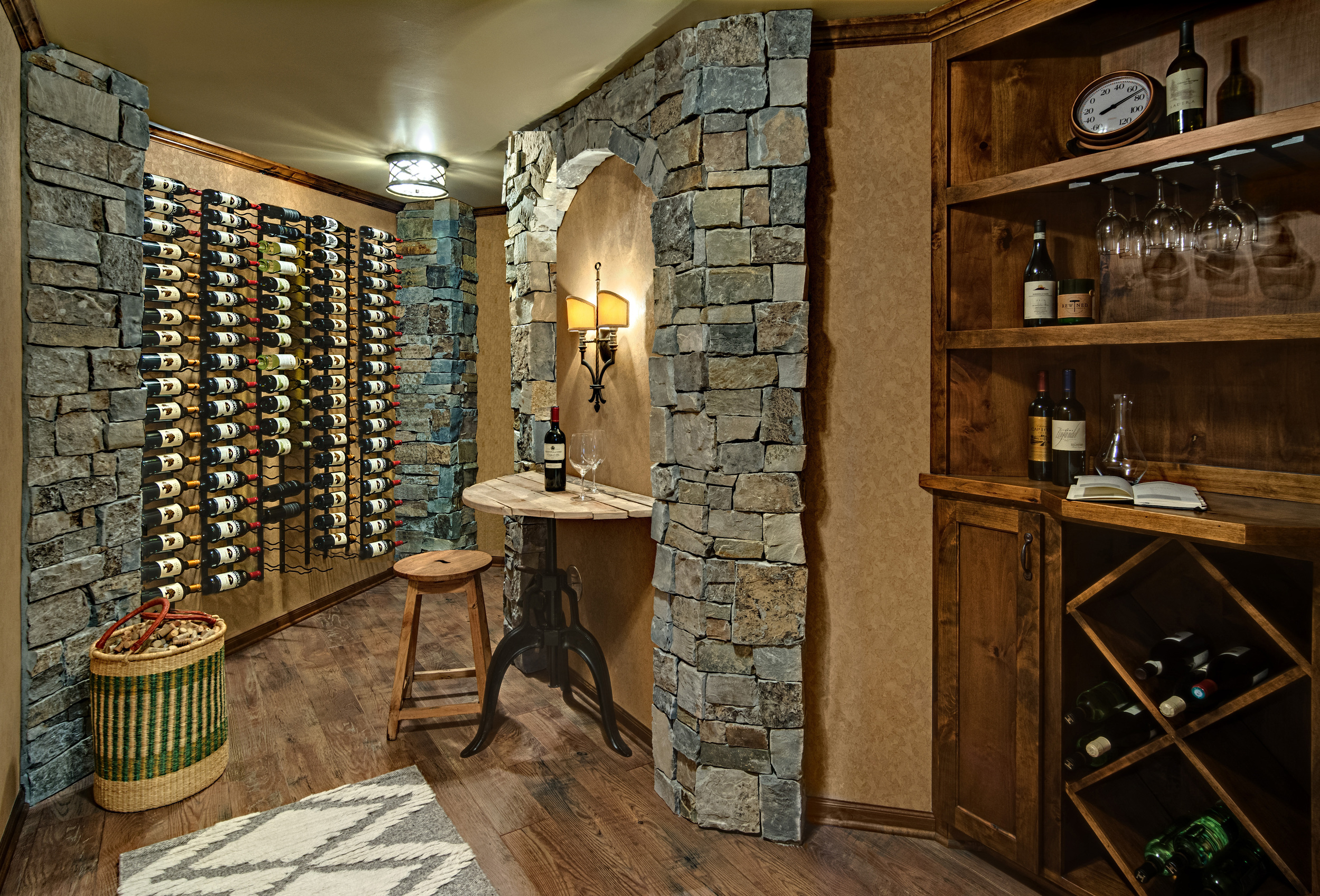 Wine Room Remodel  We are pleased to have our wine room remodel featured in the  Star Tribune . Previously, this space was an unfinished storage space. Now, the homeowners have a room that is dedicated to their passion and hobby and connects with the living room located just off of the wine room..