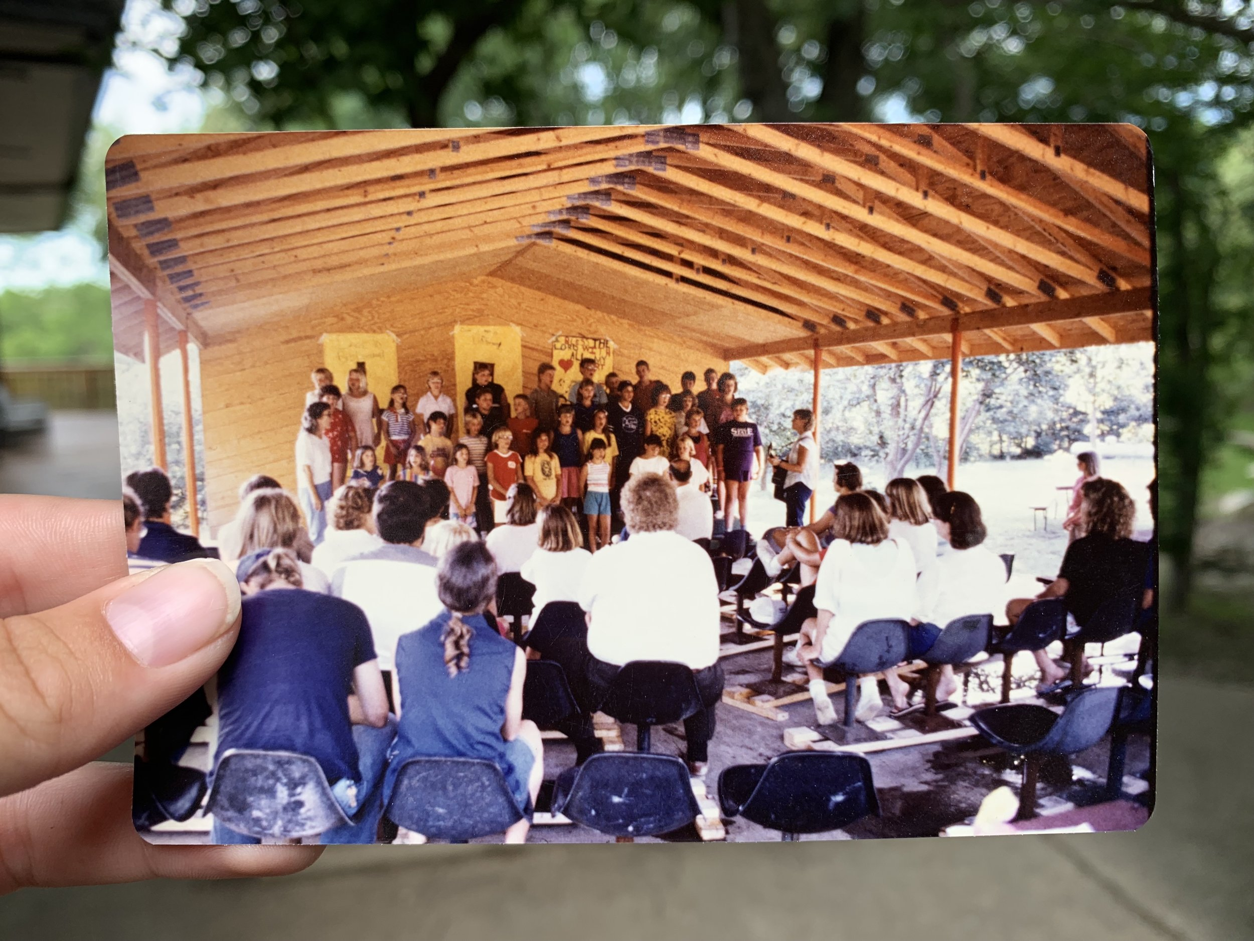 The Camp Pavilion - Sitting across from the dining hall, the pavilion has provided shelter for a countless number our camp dances, talent shows, worships, and other events for years and years.