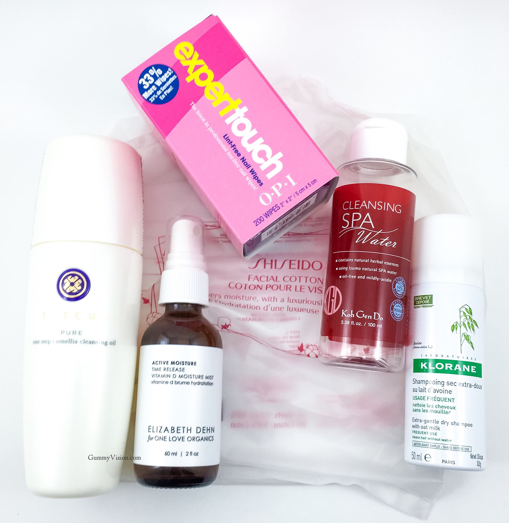 Empties: September 2014 - Tatcha One Step Camellia Cleansing Oil, Elizabeth Dehn for One Love Organics Active Moisture Time Release Vitamin D Moisture Mist, Shiseido Facial Cotton, Koh Gen Do Cleansing Spa Water, Klorane Dry Shampoo, OPI Expert Touch Lint Free Nail Wipes