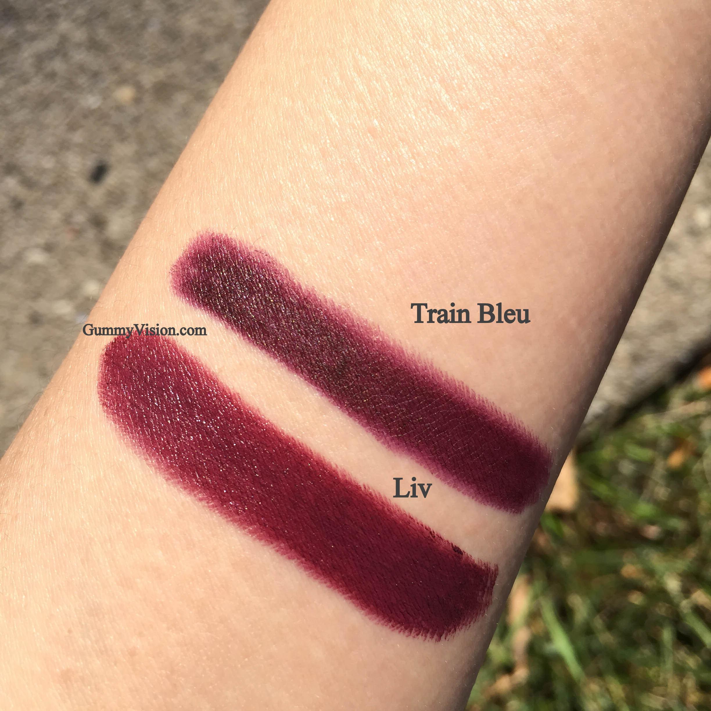 NARS Audacious Lipstick in Liv and NARS Velvet Matte Lip Pencil in Train Bleu