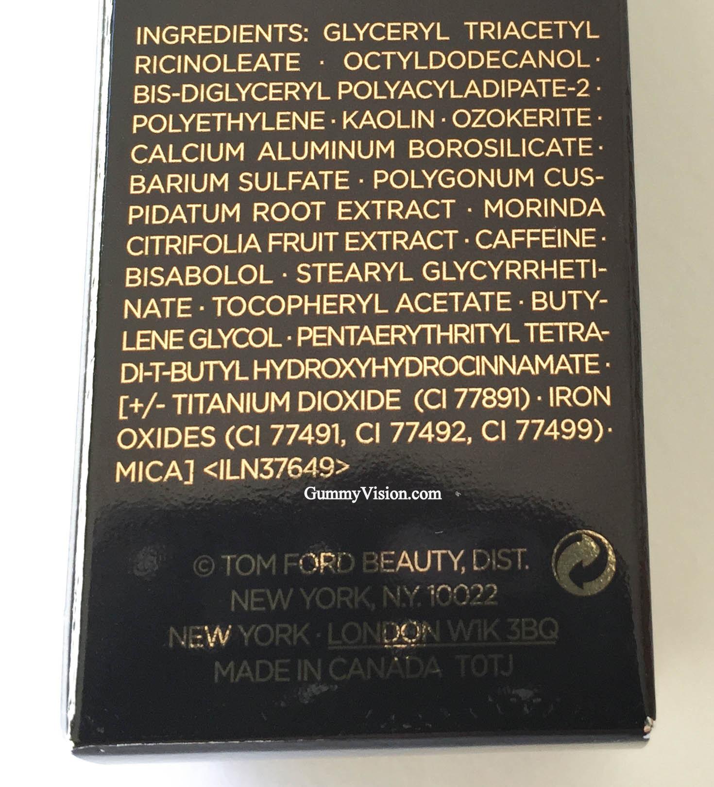 Tom Ford Traceless Foundation Stick ingredients - www.gummyvision.com