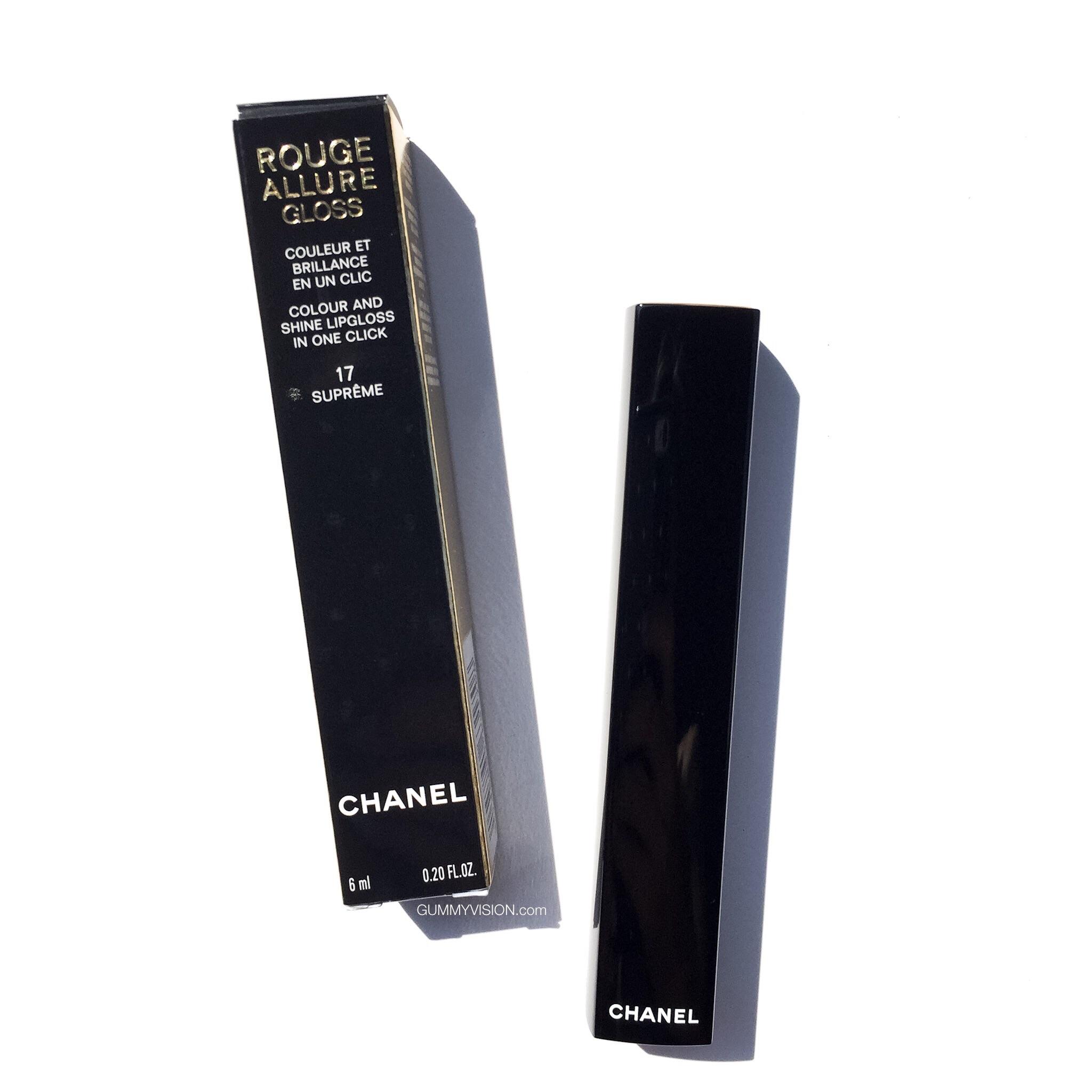 Chanel Rouge Allure Colour & Shine Lip Gloss in 17 Supreme - gummyvision.com