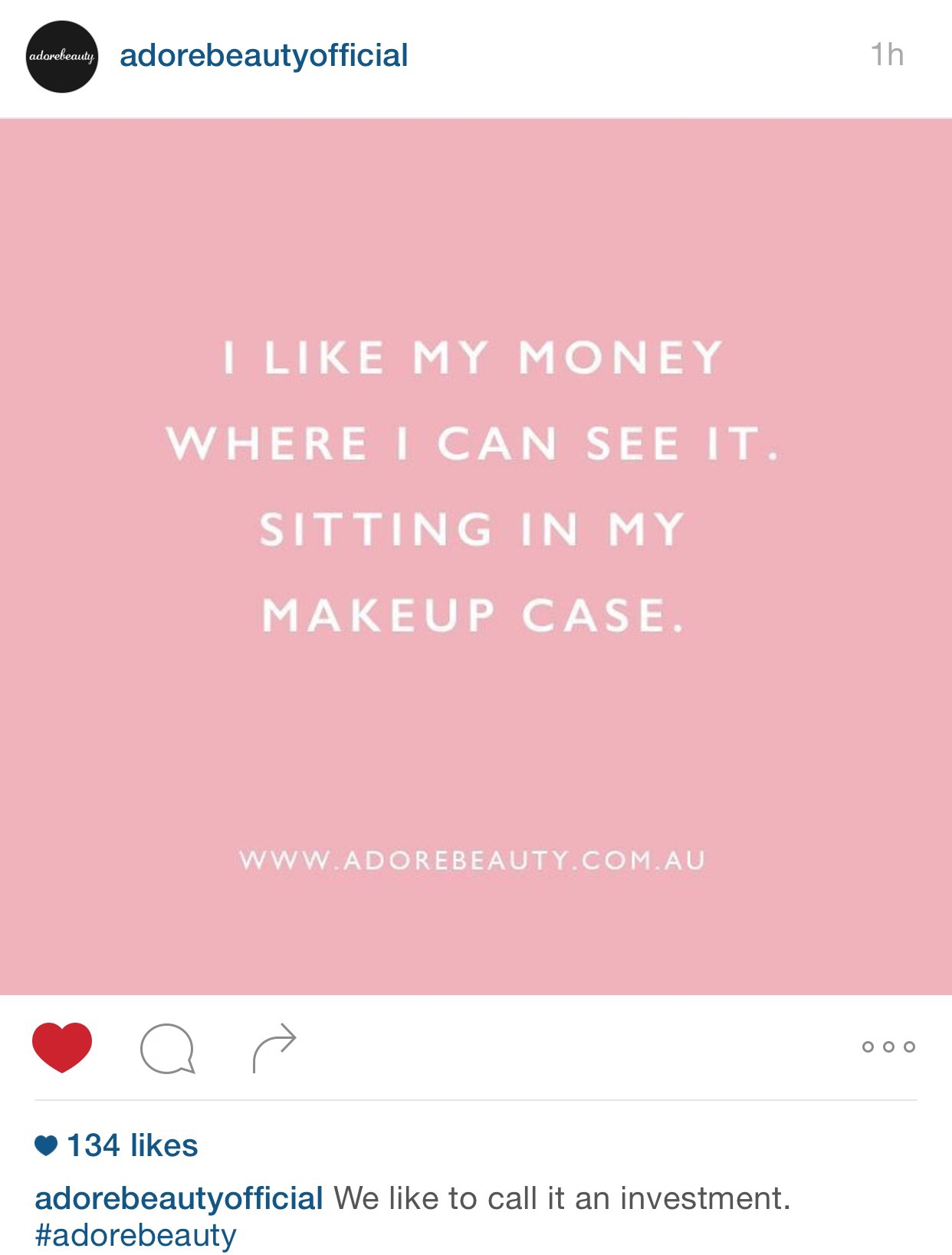 @adorebeautyofficial  on IG