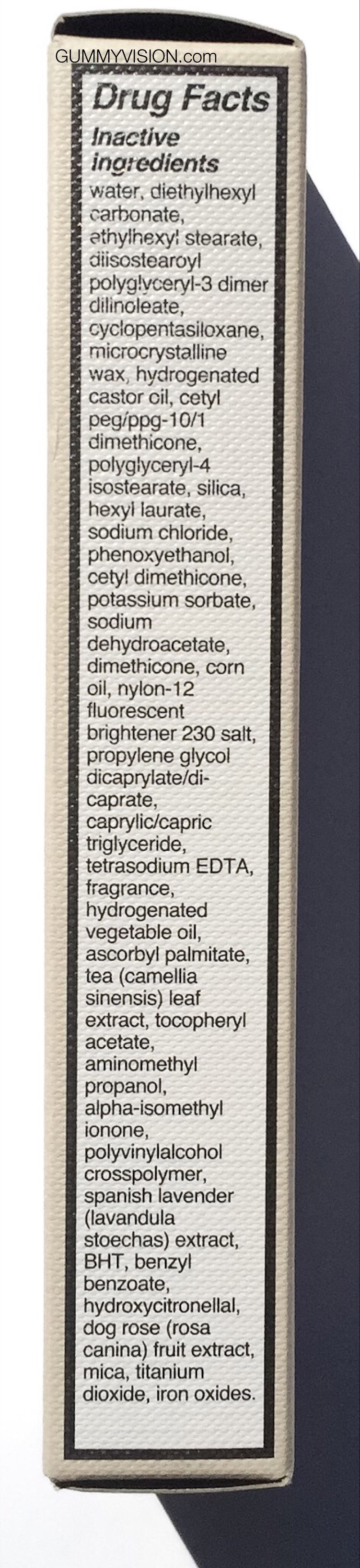 Click image to enlarge . Ingredients: Burberry BB Cream SPF20 in Light - gummyvision.com
