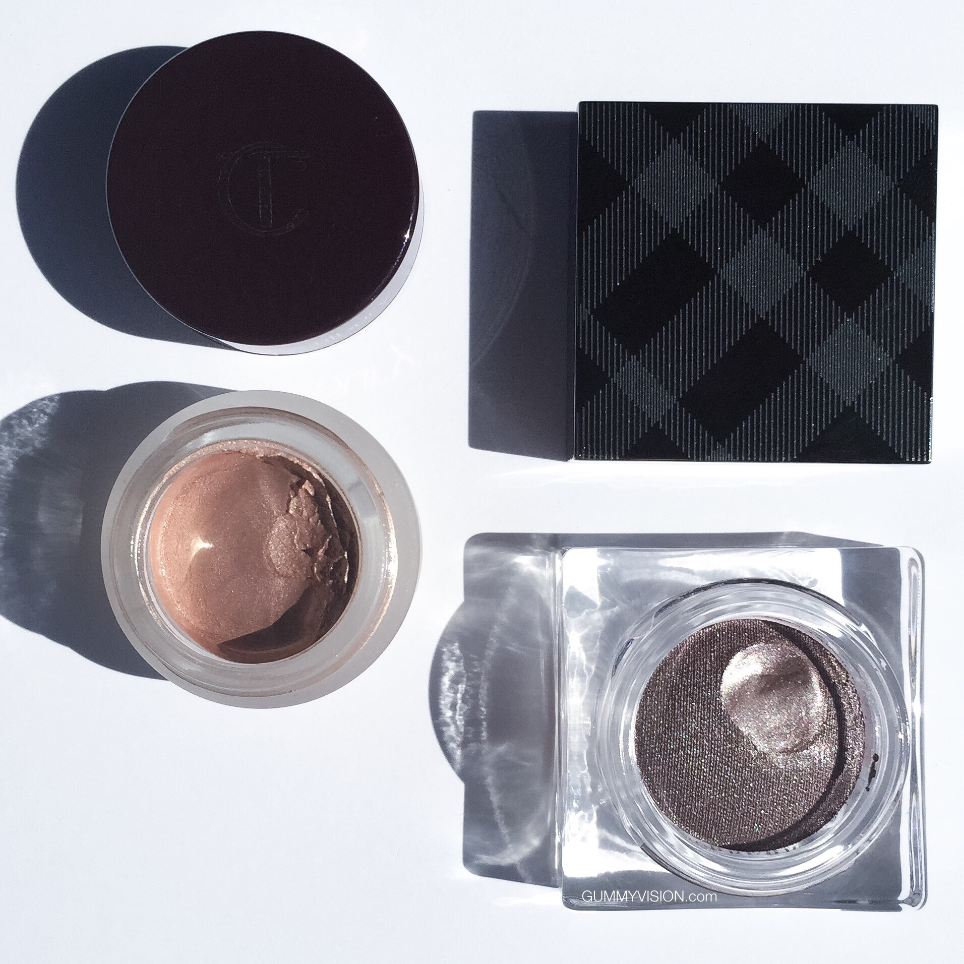 Cream Shadows: Charlotte Tilbury Eyes to Mesmerize in Norma Jean, Burberry Eye Colour Cream in Dusky Mauve - gummyvision.com