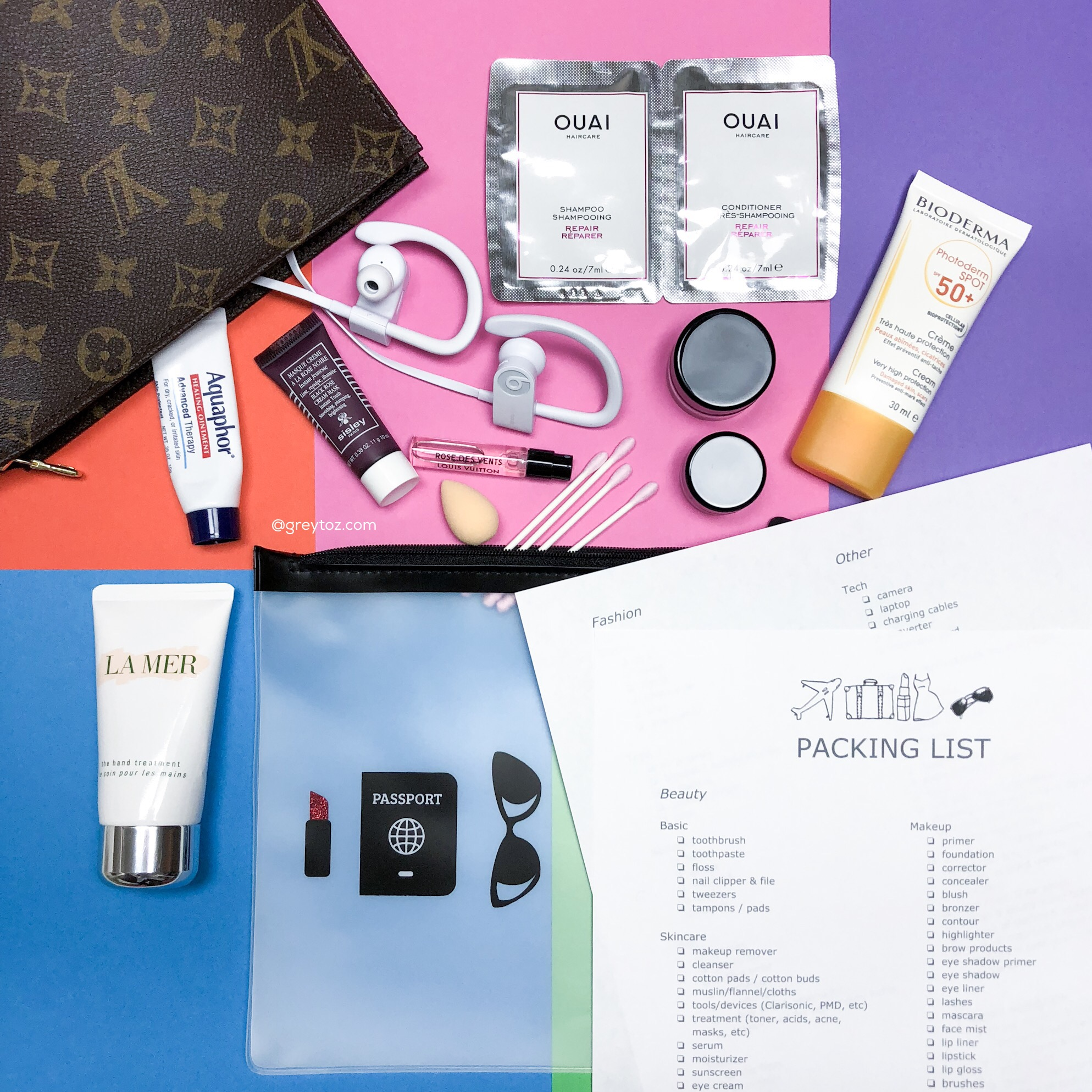 The Beauty Lover's Packing List - greytoz.com