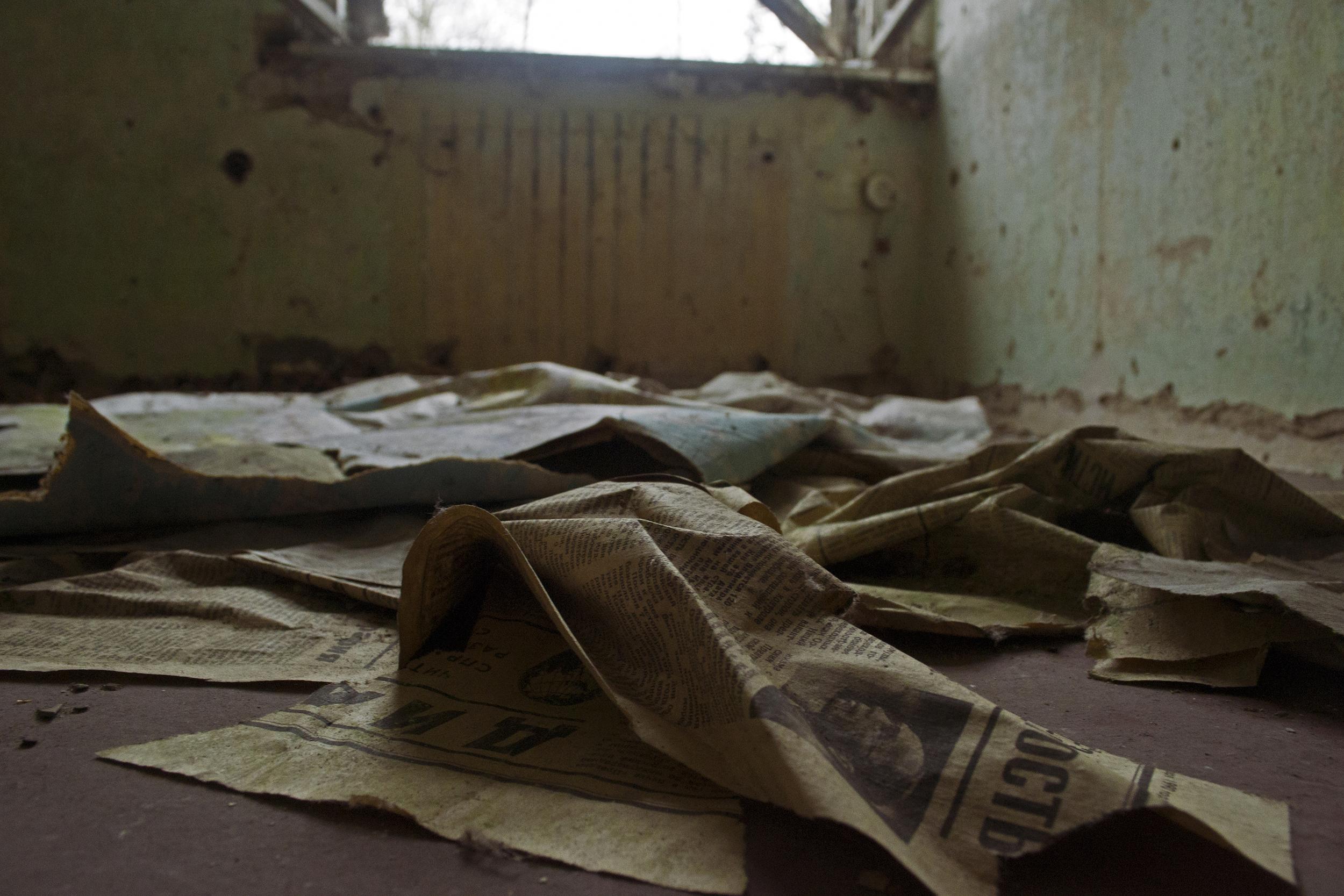 """SOVIET MILITARY BASE """"PRAVDA"""" WALLPAPER, DE  2013"""
