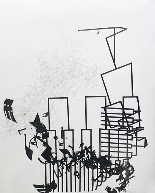 "0.005  Graphite on paper  24"" x 42""  2007"