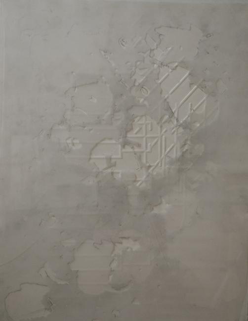 """0.0125  Plexi paper mylar and graphite  24"""" x 12""""  2008"""