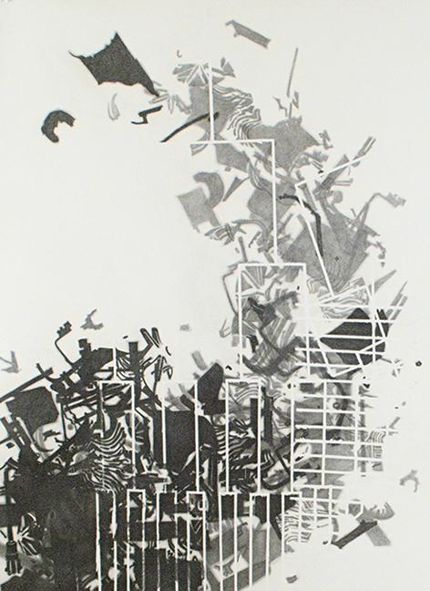 "0.007  Graphite on paper  63"" x 36""  2010"