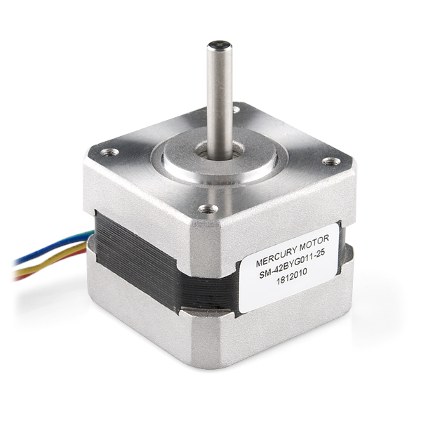 SM-42BYG011-25  - a bipolar 12V  2 phase stepper motor - from Sparkfun