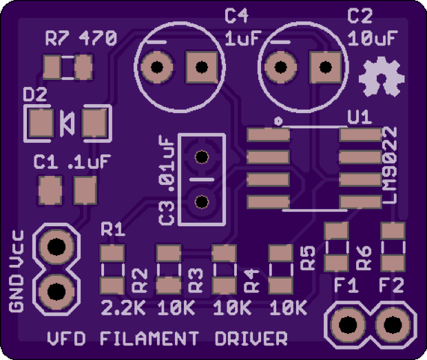 Kevin Rye   's Filament Driver Circuit