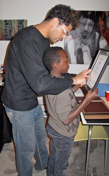 2009 Residency; working with kids from the Colfax Community Network at PlatteForum.