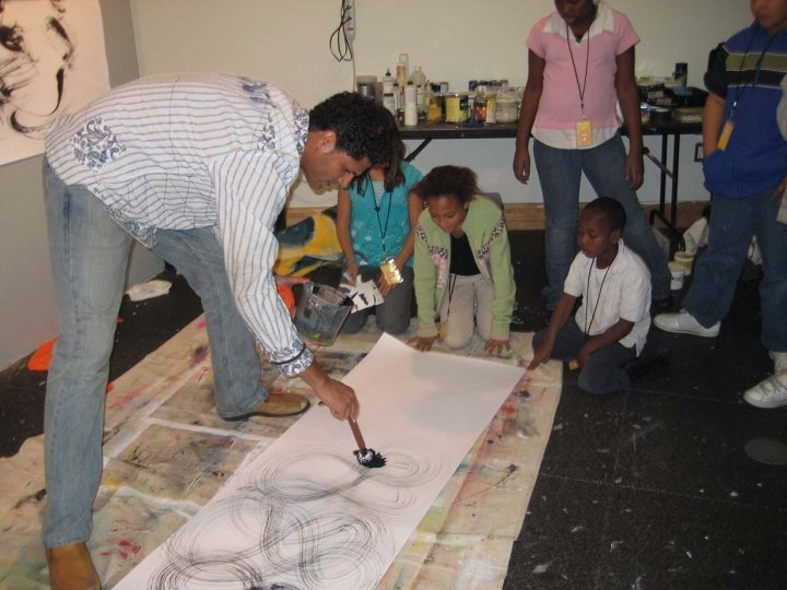 2009 Residency at PlatteForum; working with kids from the Colfax Community Network.