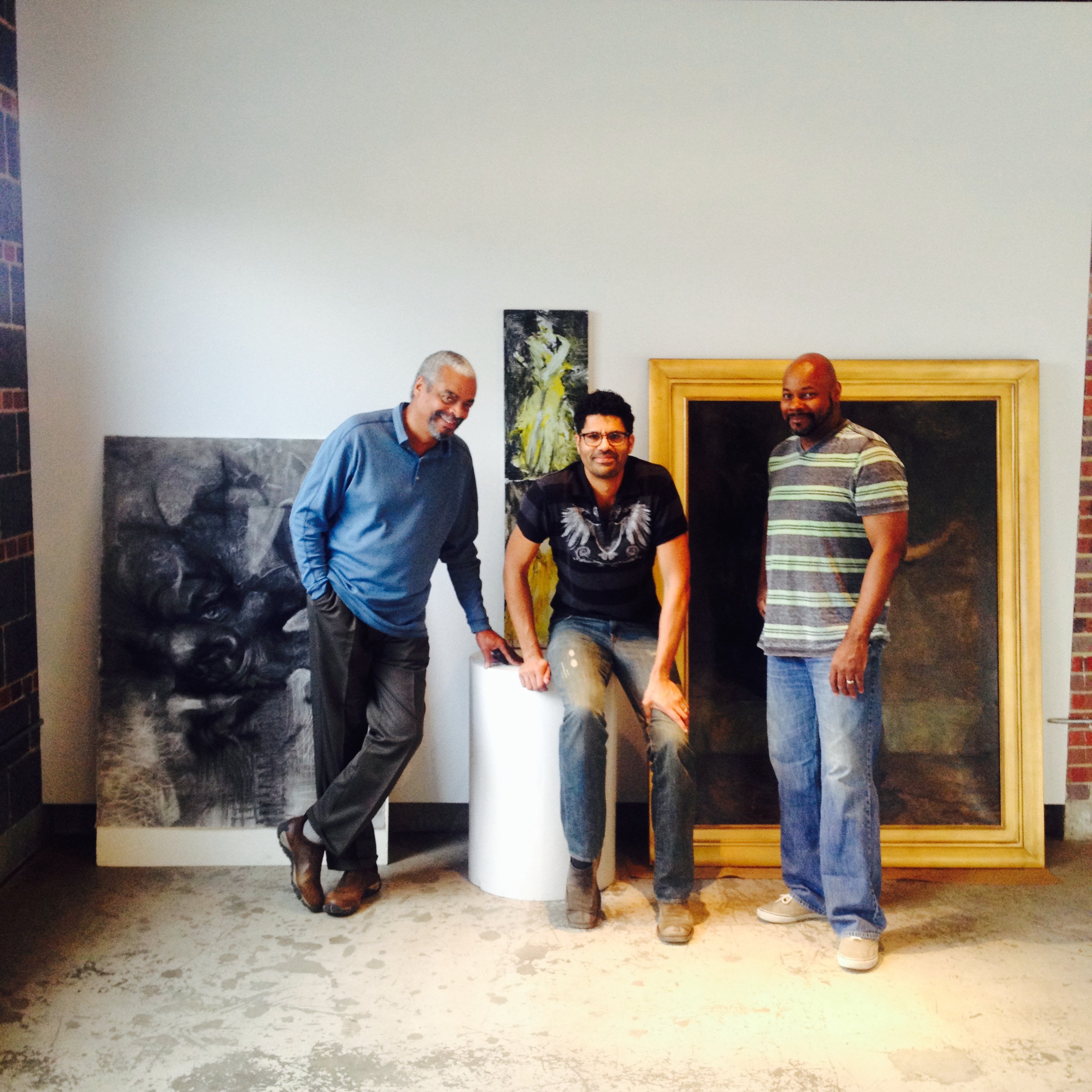 The Artists in the gallery at ArtHaus. Darrell, Michael and Ron