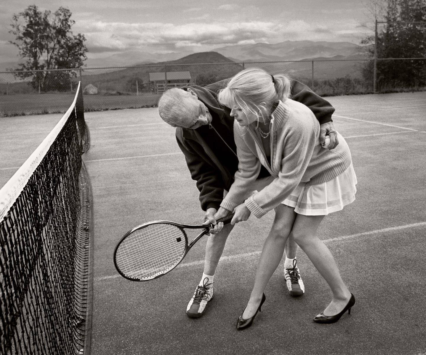 The Tennis Lesson by © Chehalis Hegner