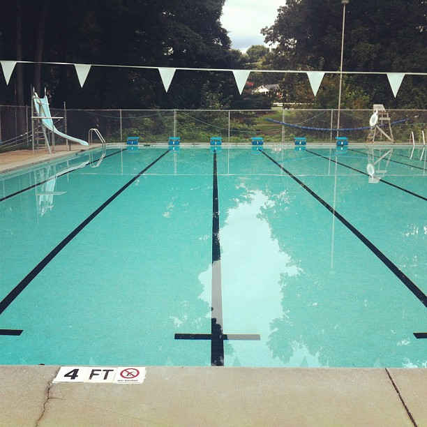 Junior Olympic sized, 25 meter, 6-lane pool
