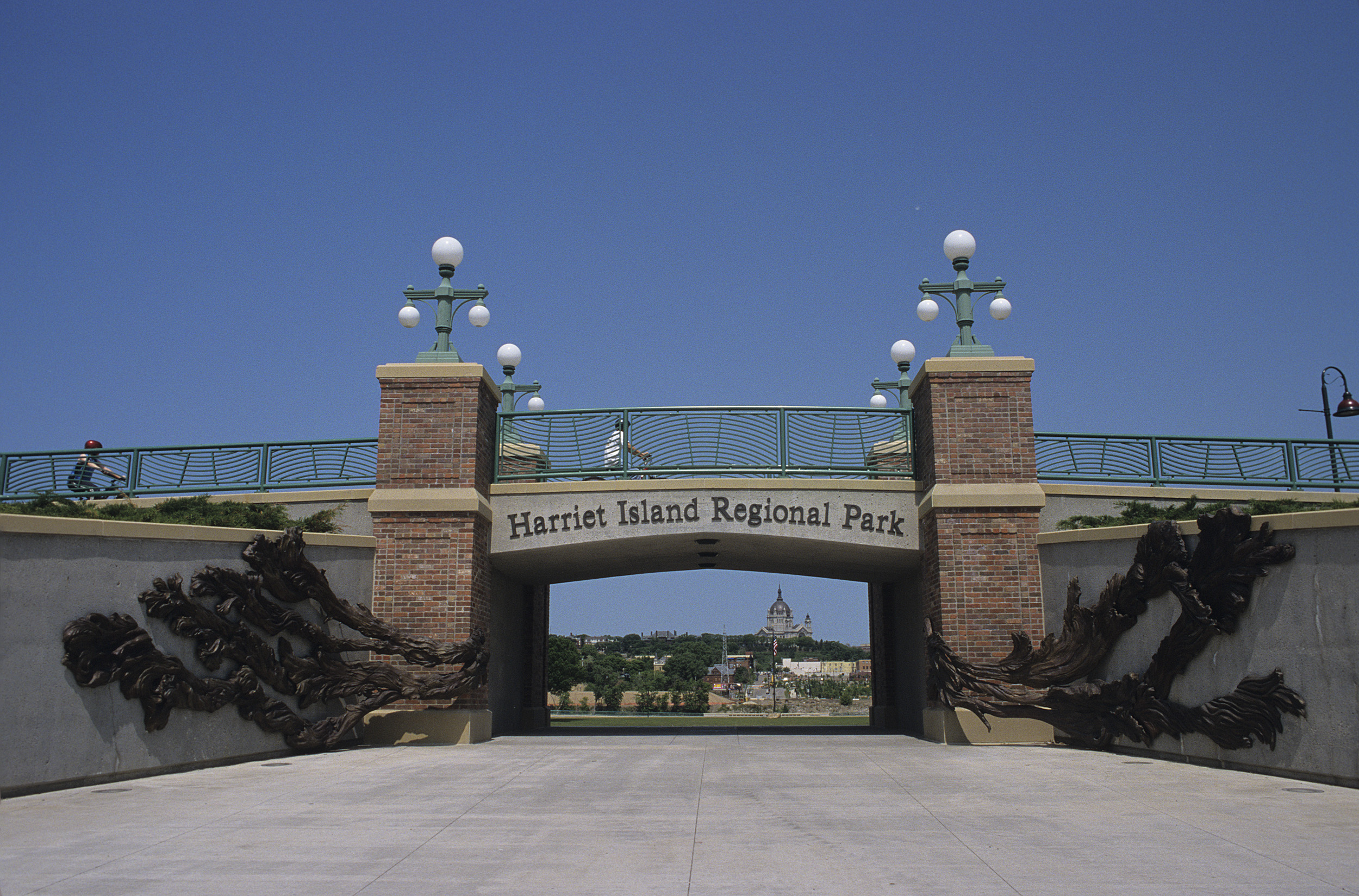 Floodwaters, for Harriet Island (bronze)