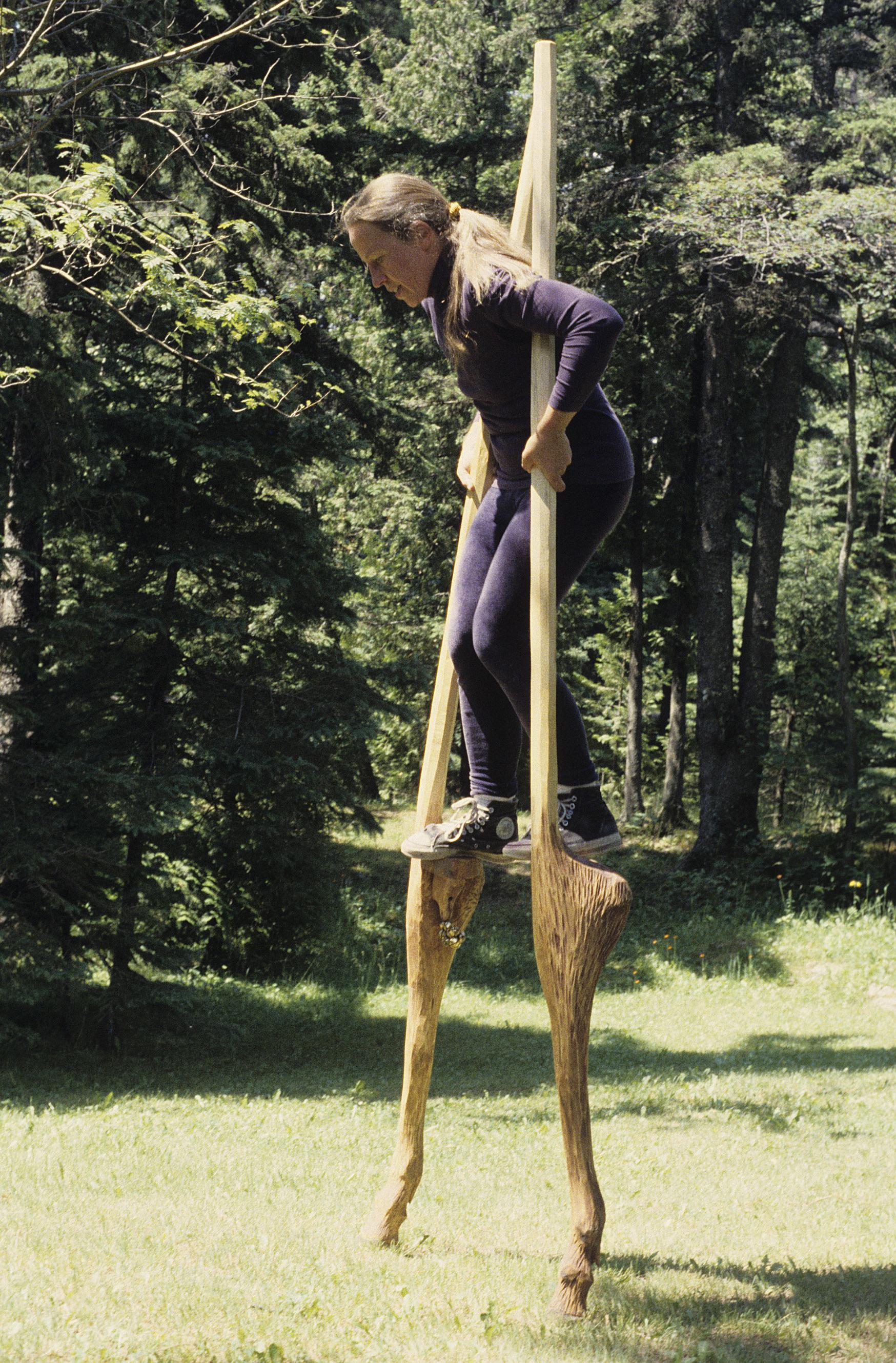 Deer Stilts in action.
