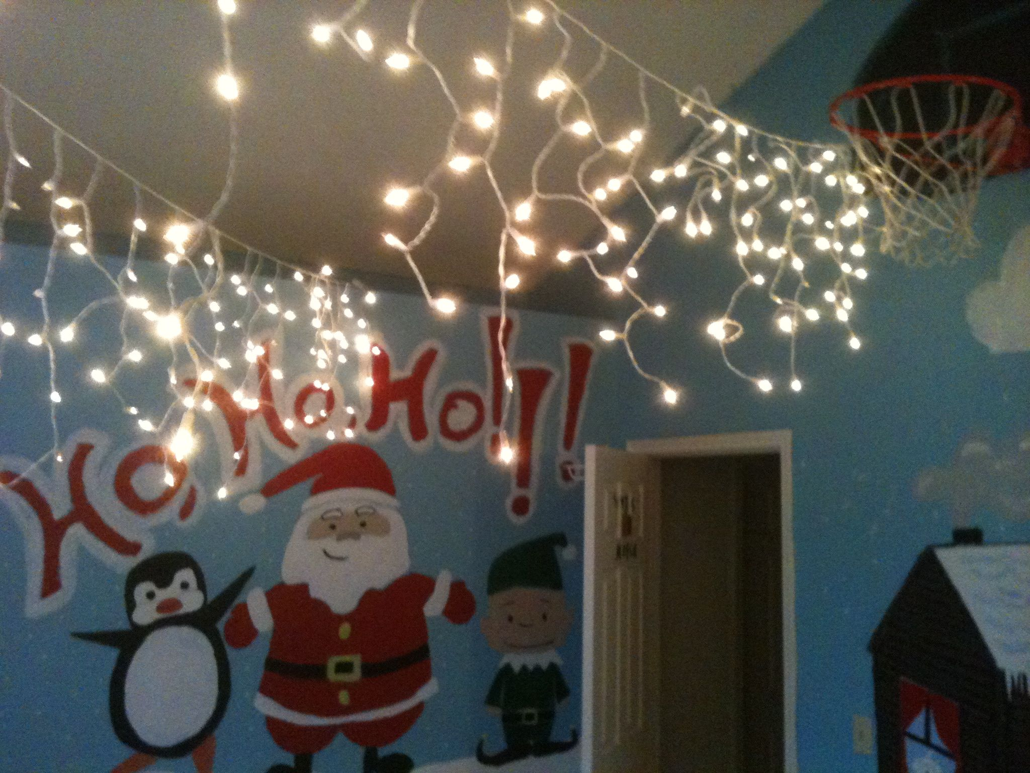 My old room, decorated for Christmas.