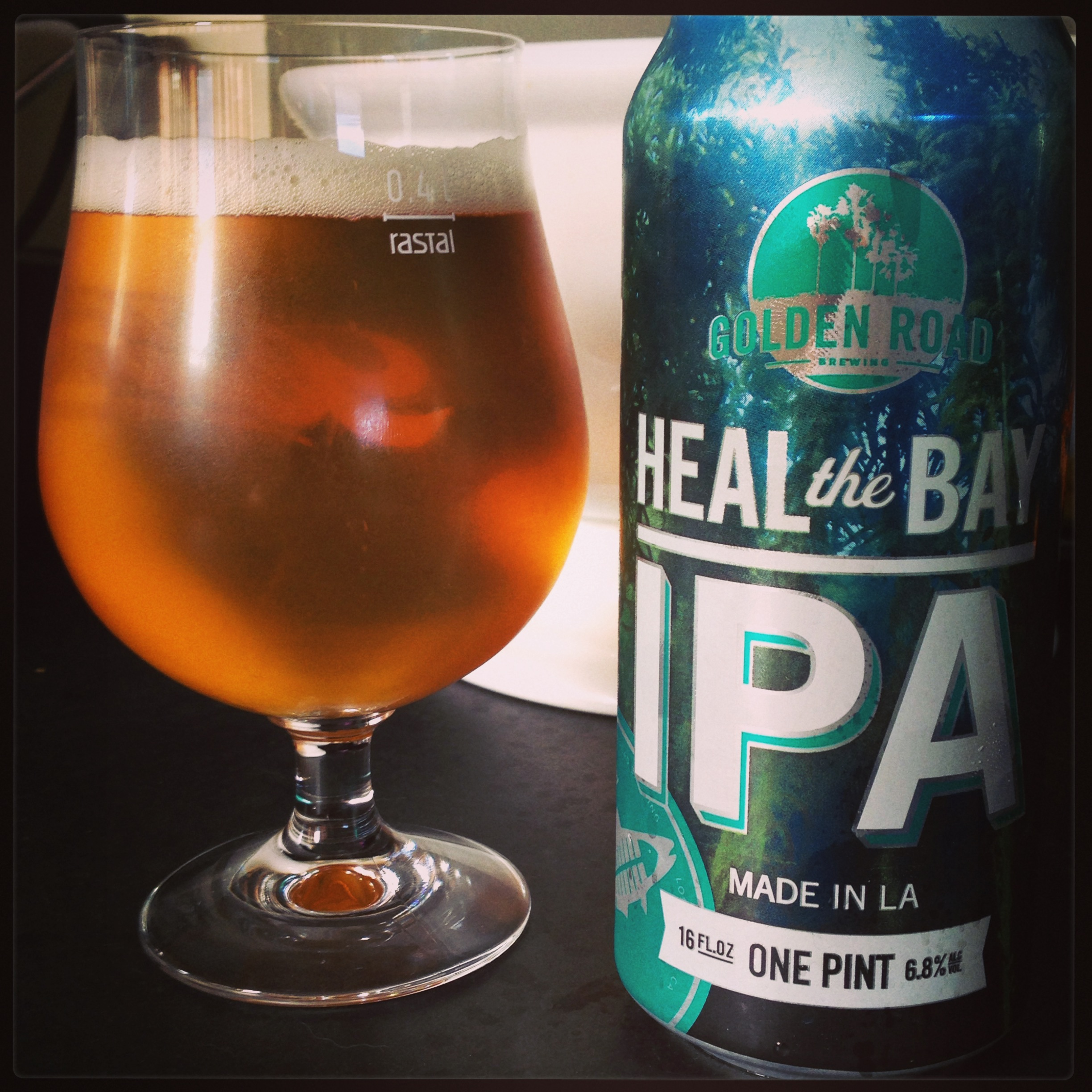 """Golden Road Brewing """"Heal the Bay IPA."""""""