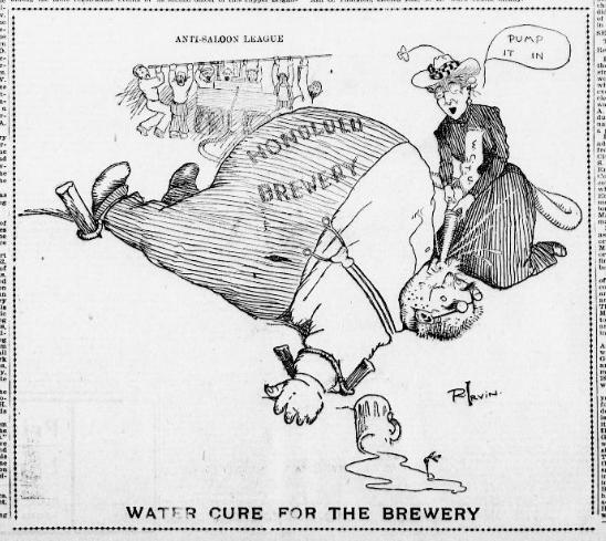 Political Cartoon, Hawaiian Gazette, 1902. (http://chroniclingamerica.loc.gov/lccn/sn83025121/1902-05-23/ed-1/seq-1/)
