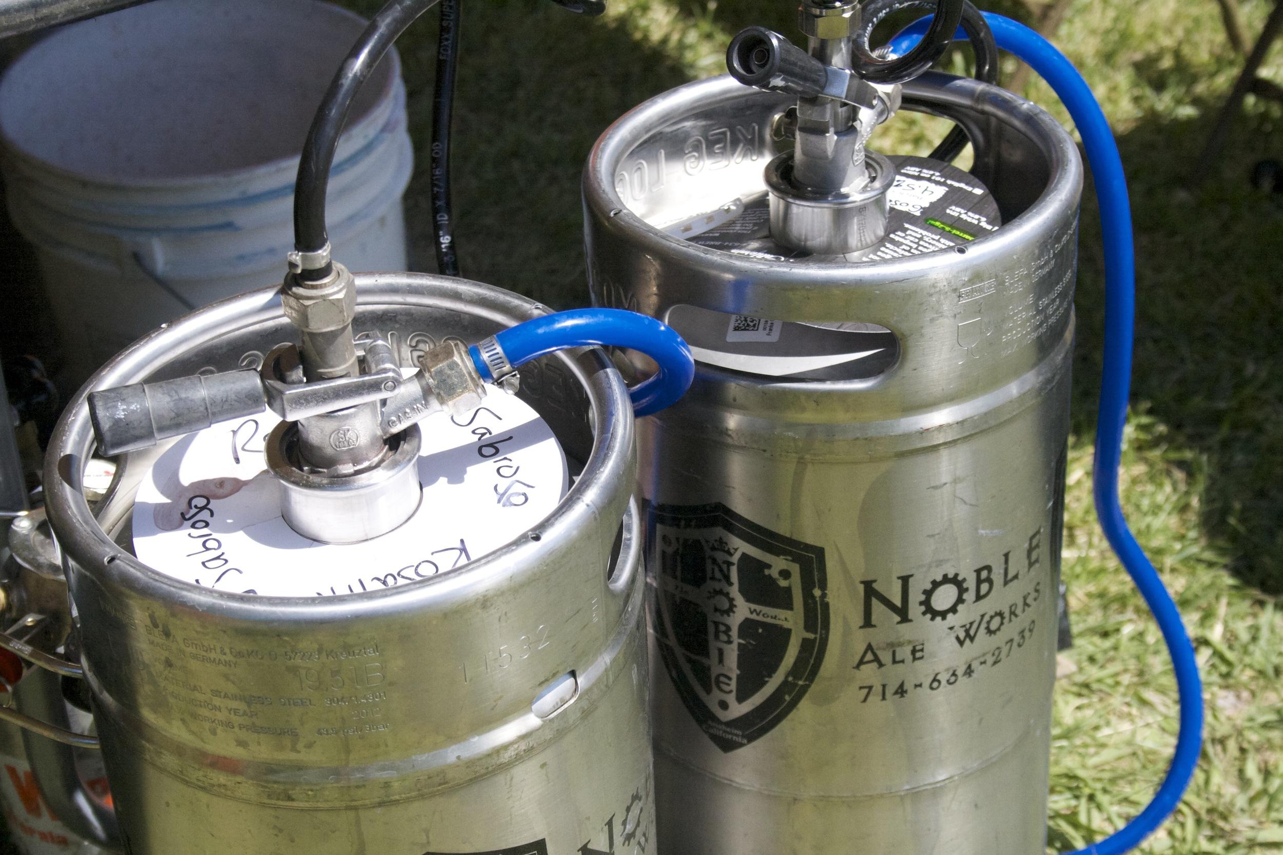 Lots and Lots of beer (Noble Ale kegs)