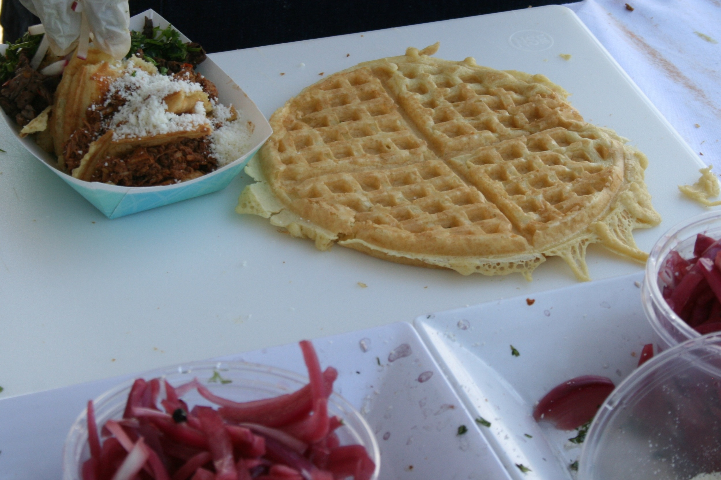 Even waffle tacos